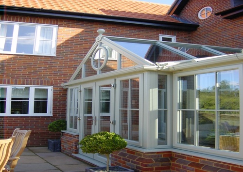 Elegant French Grey Conservatory