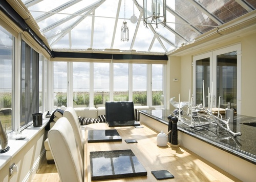 Sea View Conservatory with Kitchen