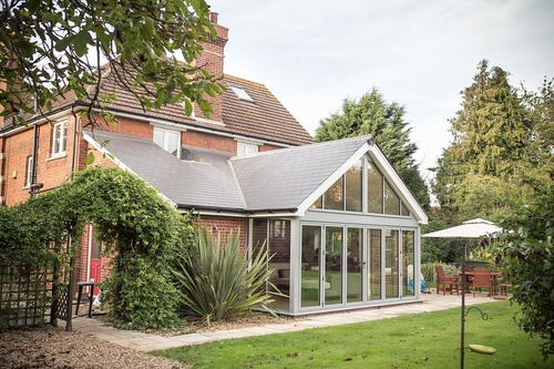 Chic Slate Tiled Garden Room