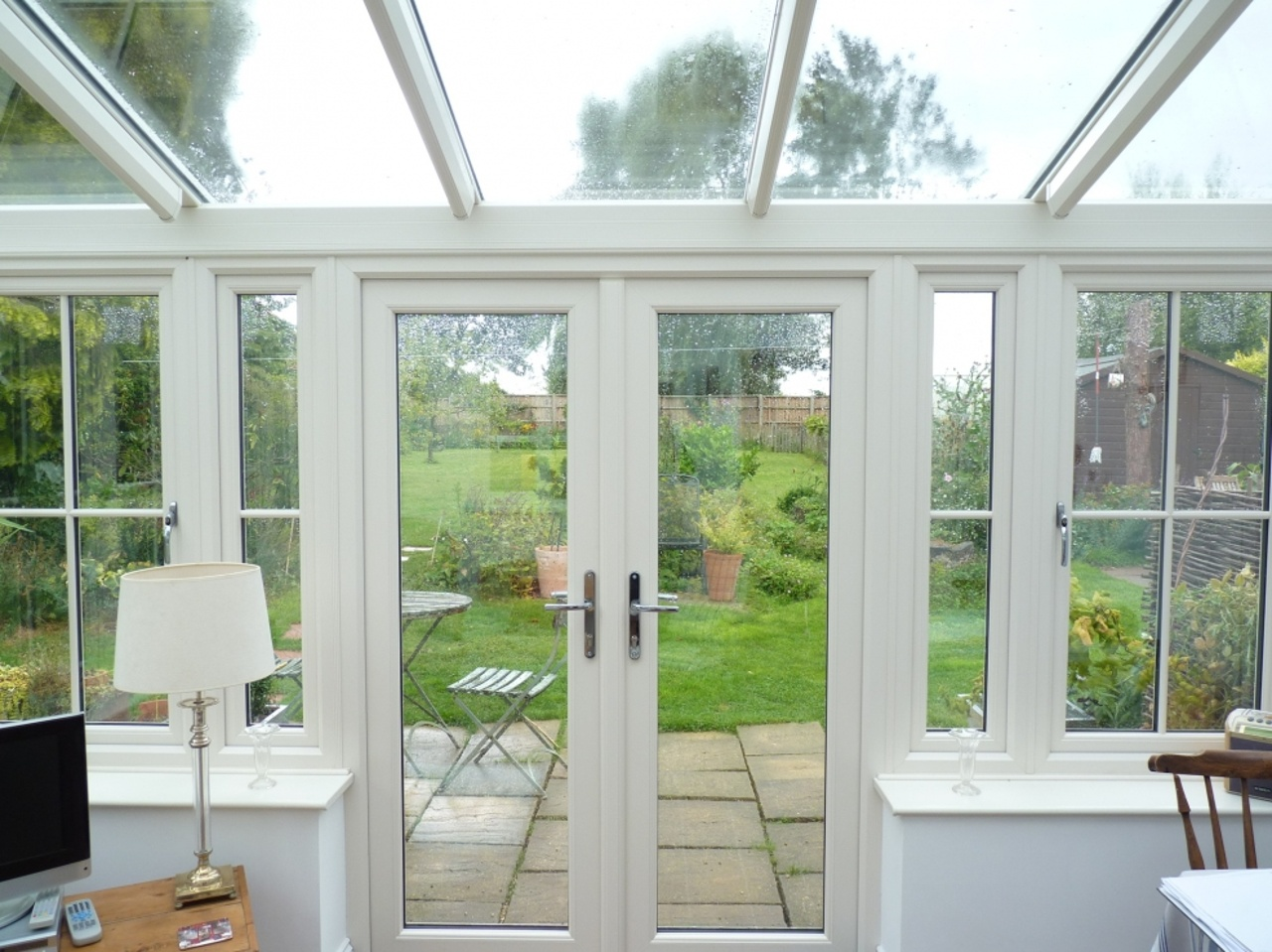 UPVC Conservatory, cream foil finish