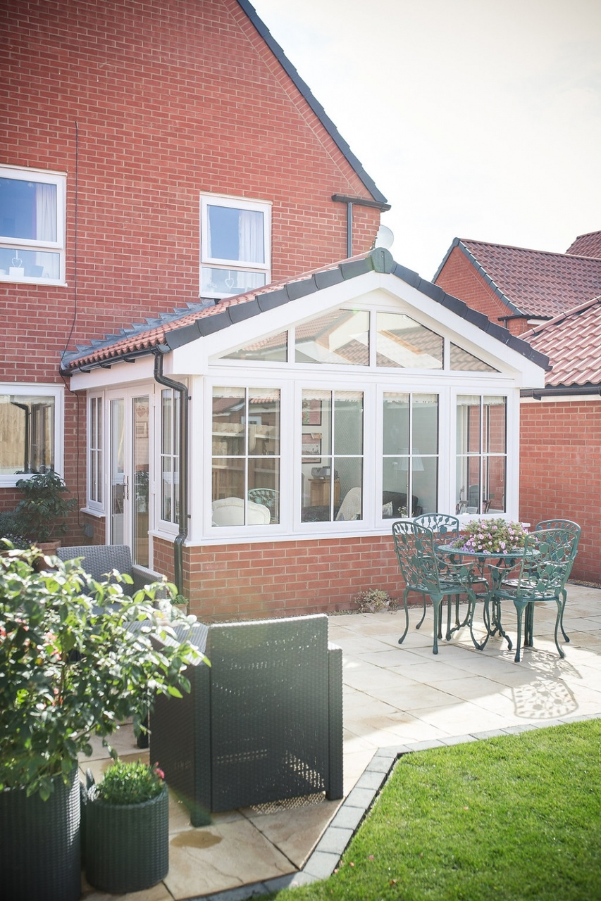 Externally, the new garden room blends seamlessly with the house