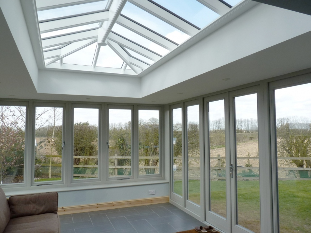 Hardwood Orangery in French Grey